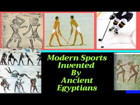 Modern sports invented by ancient egyptians, hockey & gymnastics etc...