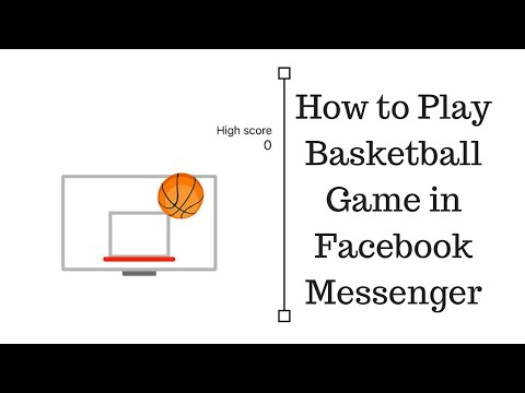 How to play basketball game in facebook messenger