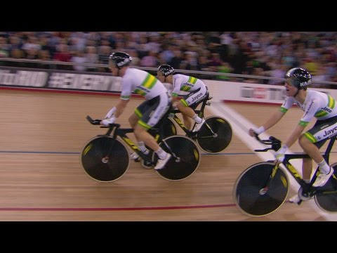 Men's team pursuit gold finals - track cycling world championships | london, england