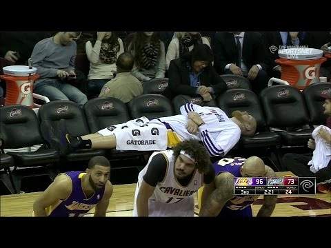 Lakers whole team fouls out vs cavs!