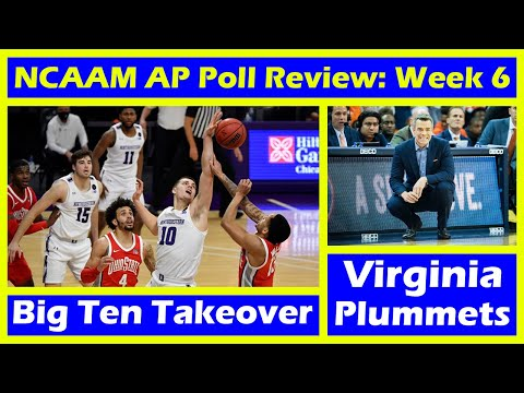 Big ten takes over the top 25 rankings? college basketball ap poll review: week 6