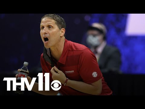 Eric musselman reacts to razorbacks loss against baylor