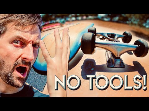 Set up a skateboard with no tools challenge!