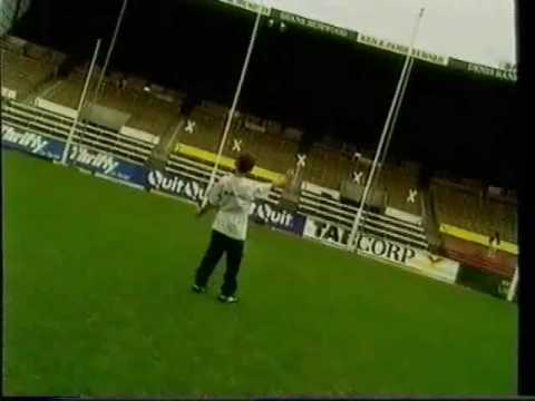 """Peter daicos presents """"how to kick like a star with goalmaster""""- part 1"""