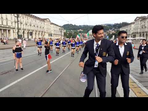 European masters games opening ceremony at torino italy on 27 july 2019