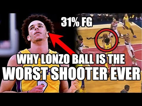 Why lonzo ball is the worst shooter in nba history