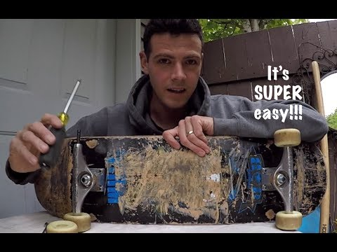 How to remove skateboard bearings from stubborn wheels.