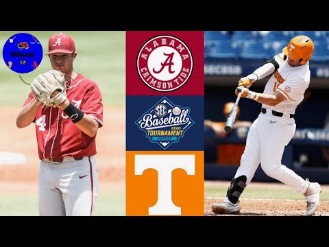 #10 alabama vs #2 tennessee highlights | sec tournament 2nd round | 2021 college baseball highlights