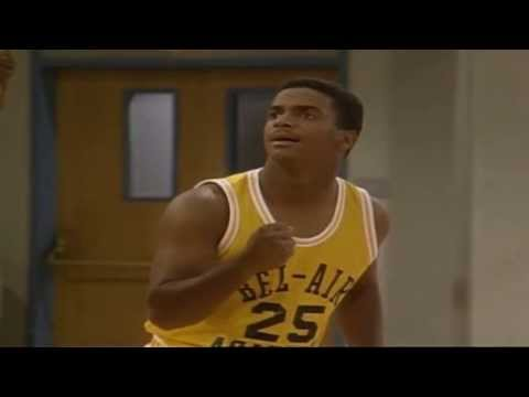 The fresh prince of bel-air : carlton and will smith plays basketball hd