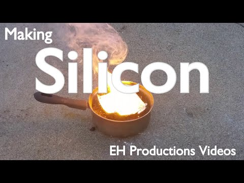 Making elemental silicon from sillica gel | isolating the elements