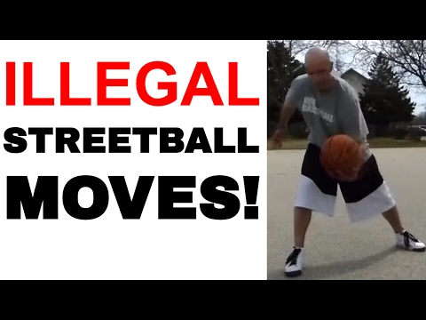 What streetball moves are illegal in basketball? what's a carry? a double dribble?