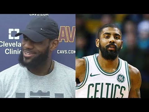 Lebron james reacts to kyrie irving not playing in 2018 conference finals vs cavaliers!