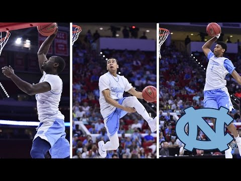 Unc team wows crowd with spectacular dunks at ncaa tournament practice