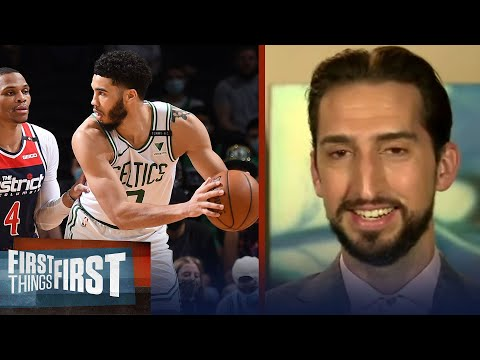 Jayson tatum gave a signature performance but he's not a superstar — nick | nba | first things first