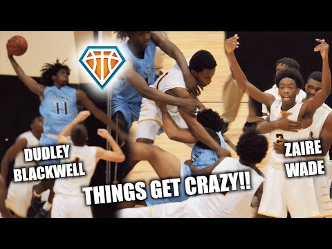 Game gets so heated it was cancelled?! 😱 zaire wade breaks up fight   d-wade, jrich & ud watch