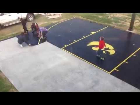 Snapsports® - time-lapse diy install of home backyard basketball court