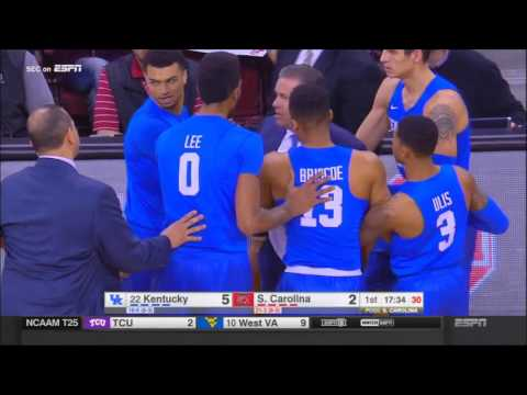 John calipari ejected two and a half minutes into the game.