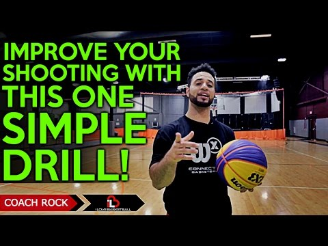 One simple drill to improve your basketball shooting! (how to shoot a basketball better)