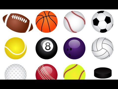 Types of balls - english vocabulary   sports balls names for kids