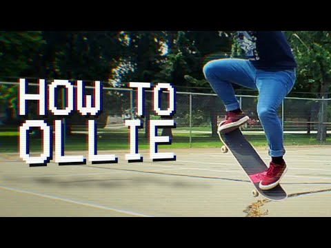How to ollie on a skateboard in under 3 minutes! (skateboarding for beginners)
