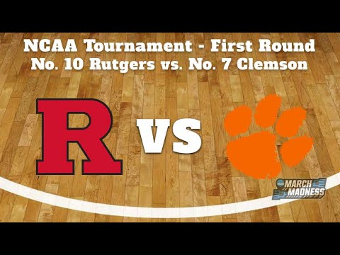 🔴live🔴 rutgers vs clemson ncaa march madness first round college basketball tournament nba playoff