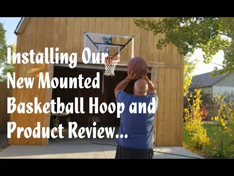 Installing our new mounted basketball hoop| product review