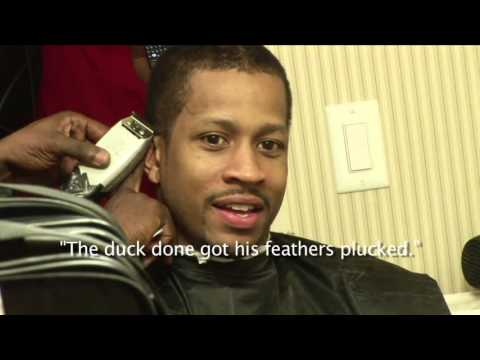 Allen iverson cuts off braids before 2009 nba all star game