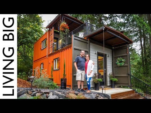 Couple build amazing shipping container home for debt-free living