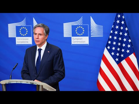 Eu hrvp borrell and us secretary of state blinken hold a joint press conference