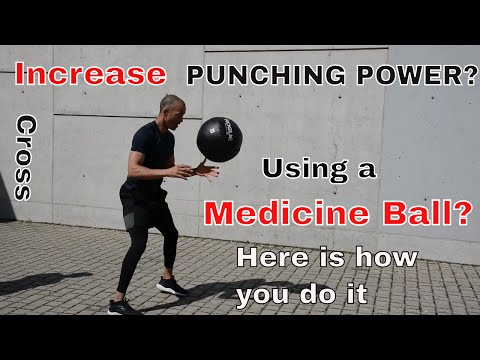 Punching power   right hand med ball toss with side step