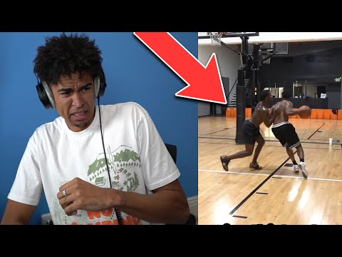 So many fouls! 1v1 basketball against deestroying...most physical game ever reaction!