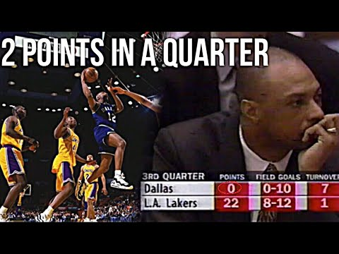 Lowest scoring quarters by a team in nba history
