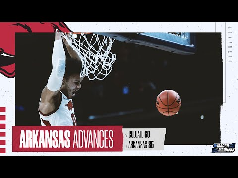 Arkansas vs. colgate - first round ncaa tournament extended highlights