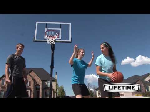 Lifetime 52'' power lift basketball system | model 90682 | features & benefits