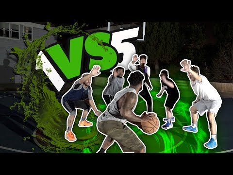 1 vs 5 2hype basketball challenge! whos the best overall player?!
