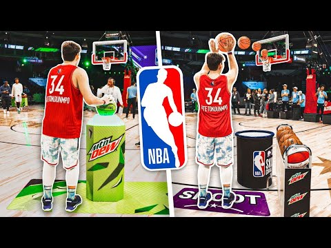 Playing in the official nba all star skills challenge 3pt contest 2020