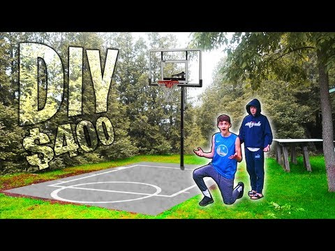 Building my own diy basketball court!! [$400]
