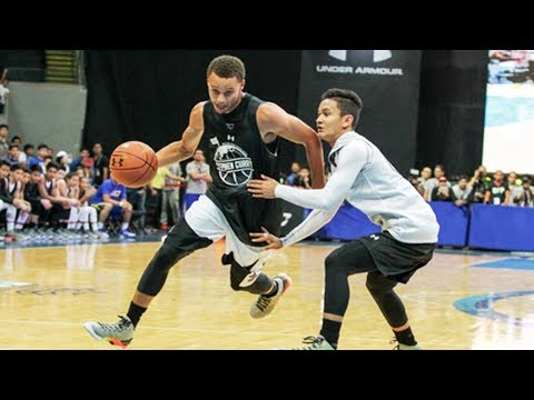 Stephen curry breaks ankles in manila, philippines (2015 under armour tour)