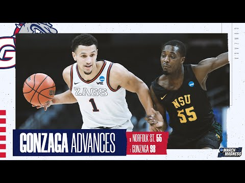 Gonzaga vs. norfolk state - first round ncaa tournament extended highlights