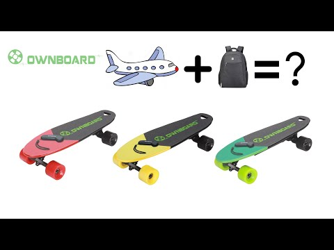 Smallest lightest ownboard tiny electric skateboard---can take into airplane
