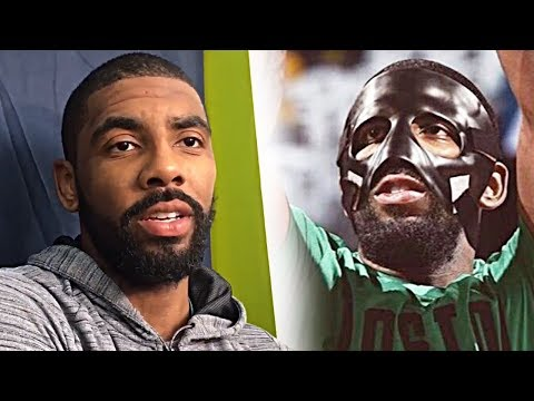 Kyrie irving on wearing a mask, severity of the injury, history of the mask & more