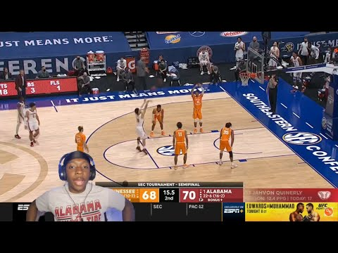 Reacting to tennessee vs alabama highlights | sec tournament | college basketball highlights 2021