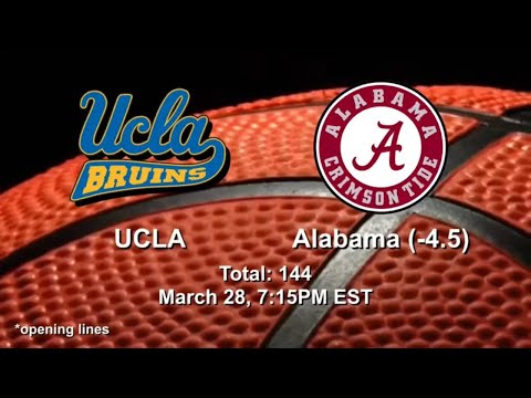 Alabama vs ucla picks and predictions | ncaa tournament betting preview | sweet 16 march 28