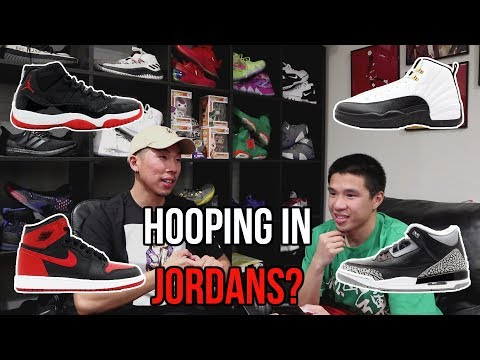 Are jordan sneakers good to play basketball in?!