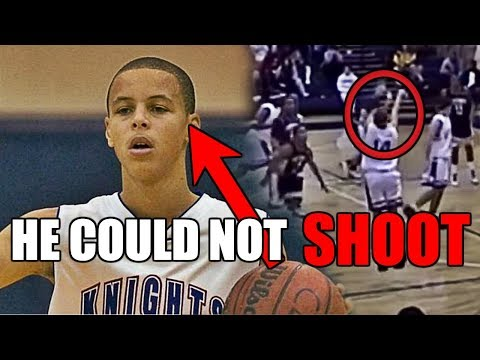 He couldn't shoot normally in high school basketball but became an nba star