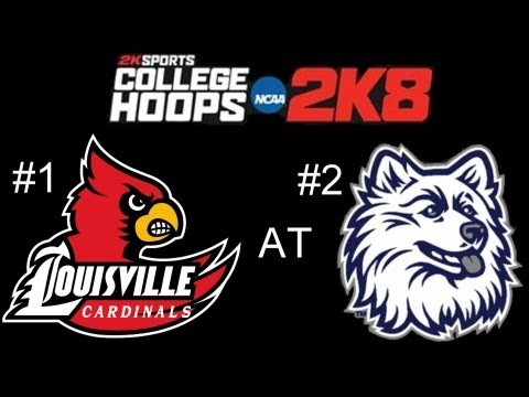 College hoops 2k8 - louisville vs connecticut - 2k8 best college basketball game ever