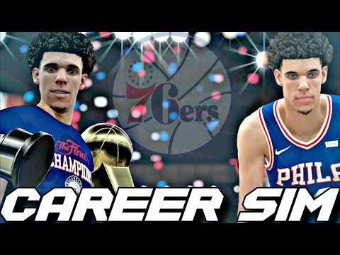 What if the sixers drafted lonzo ball?!? career simulation on nba2k18!!!