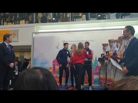2019 european figure skating championships 27.01 ice dance small medal ceremony