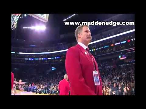 Watch will ferrell(security guard) kicks shaq out of a lakers game(hd)
