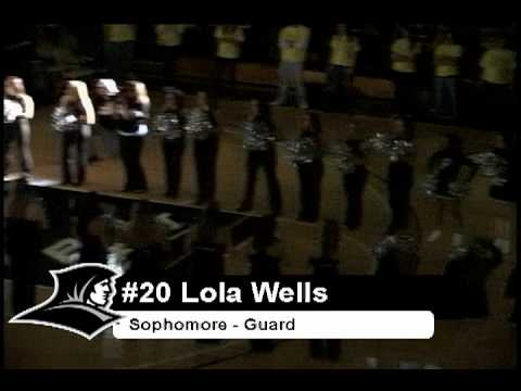 Providence college friars women's basketball team being introduced at late night madness